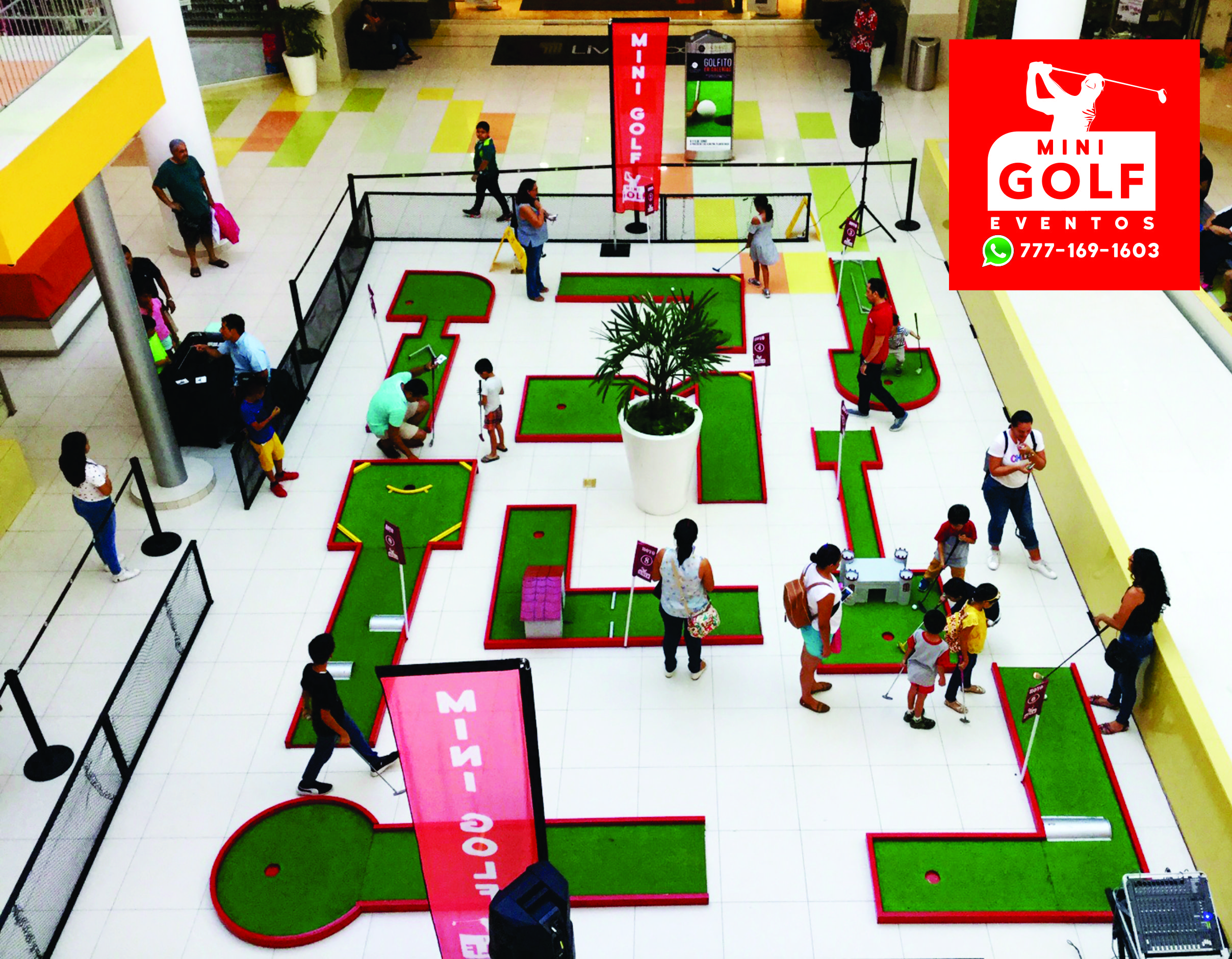 Mini Golf Golfito Mexico Eventos Portatil